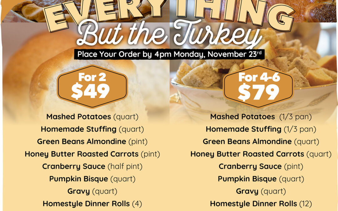 """Bountiful Bread Offers """"Everything But the Turkey"""" This Thanksgiving"""