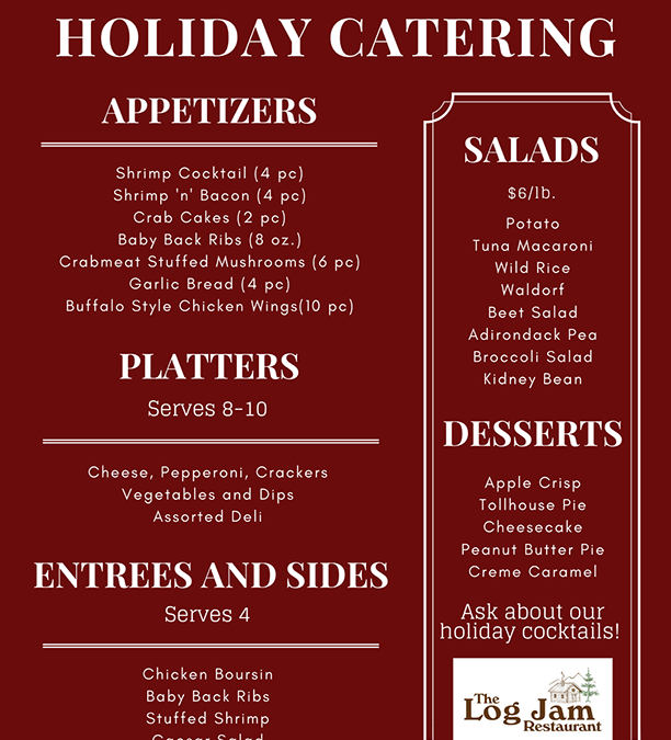Log Jam Launches Holiday Catering Menu