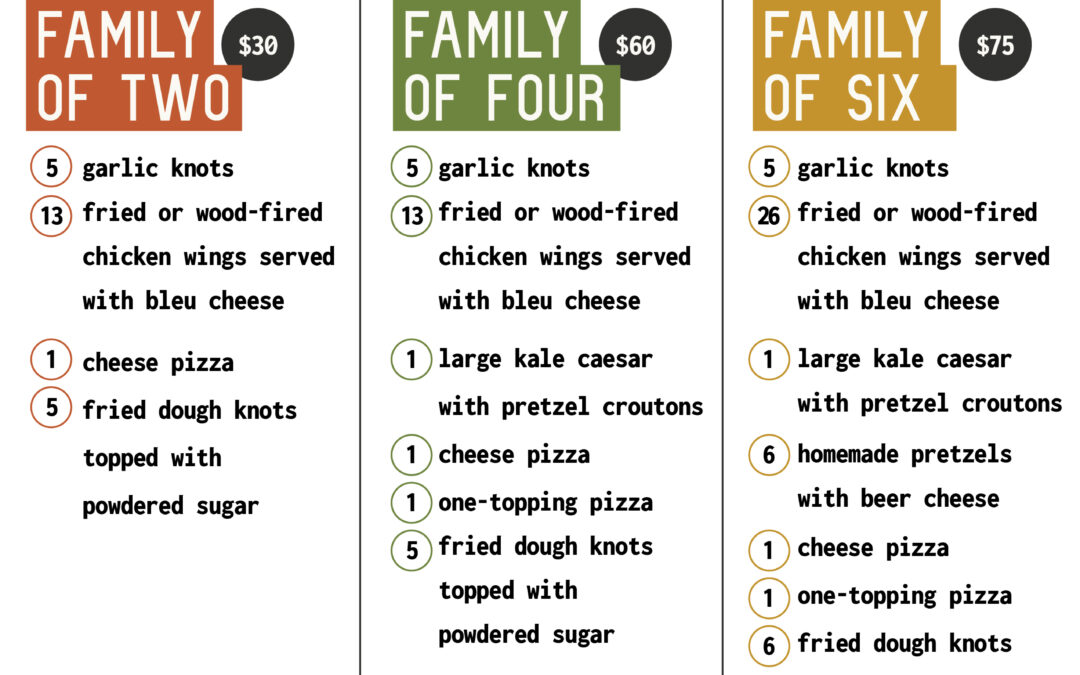 Annabel's Pizza Co. rolls out new Family Meal Deals in 2021
