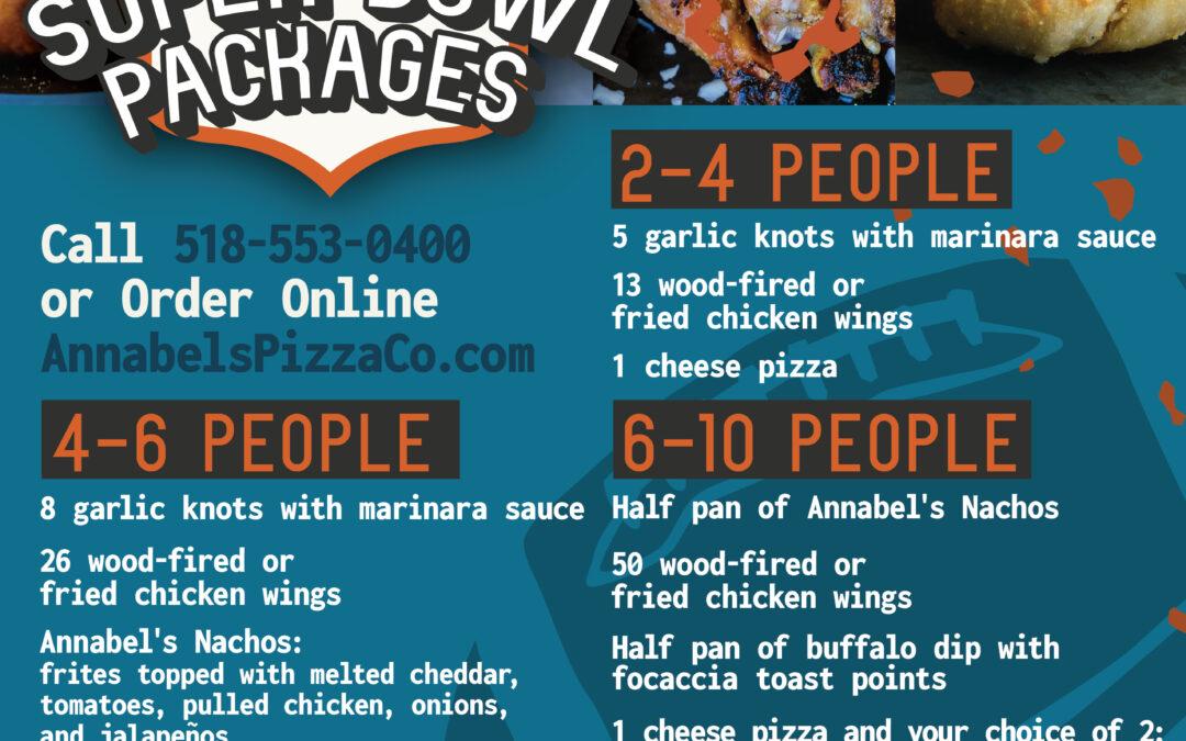 Annabel's Pizza Co. Super Bowl Specials