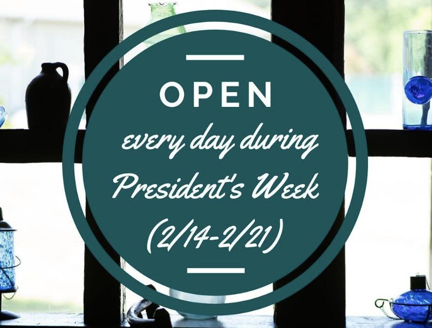 Log Jam Restaurant's Presidents Week Hours