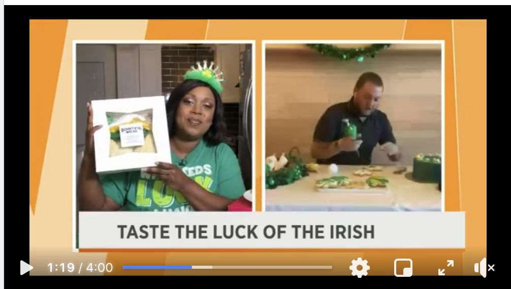 Bountiful Bread St. Patrick's Cookie Kits Featured on Local News