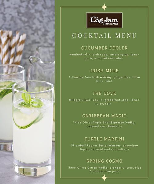 New Cocktail Menu Debuts at The Log Jam Restaurant