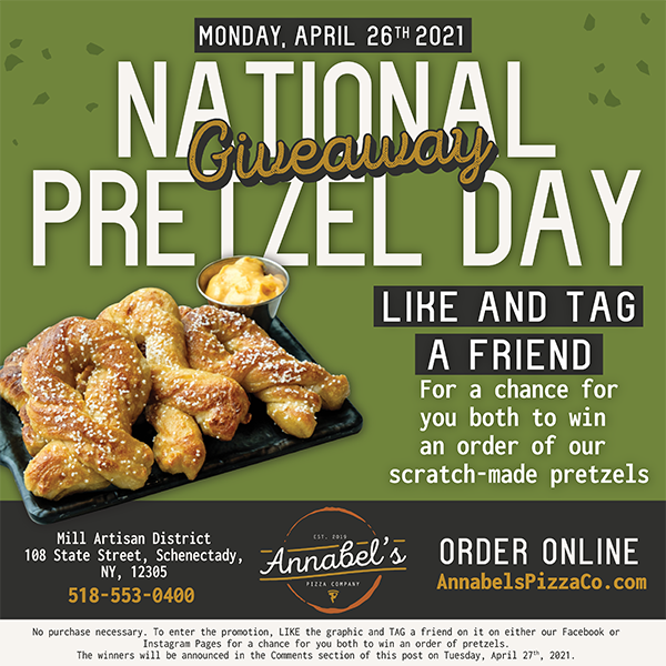 Annabel's Pizza Co. Celebrates National Pretzel Day with Giveaway