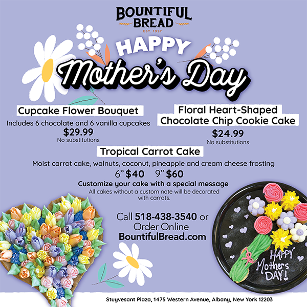 Bountiful Bread's Mother's Day Baked Goods Menu