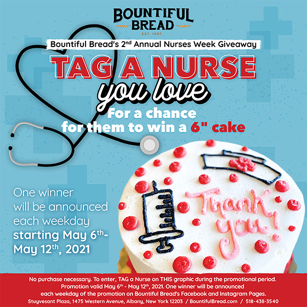 Bountiful Bread's 2nd Annual Nurses Week Giveaway